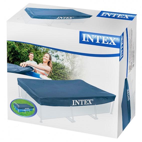 Cobertor piscina intex small prisma frame cubiertas de for Ofertas piscinas desmontables rectangulares