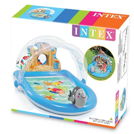 Piscina de juegos hinchable intex castillo de playa for Precio piscina hinchable