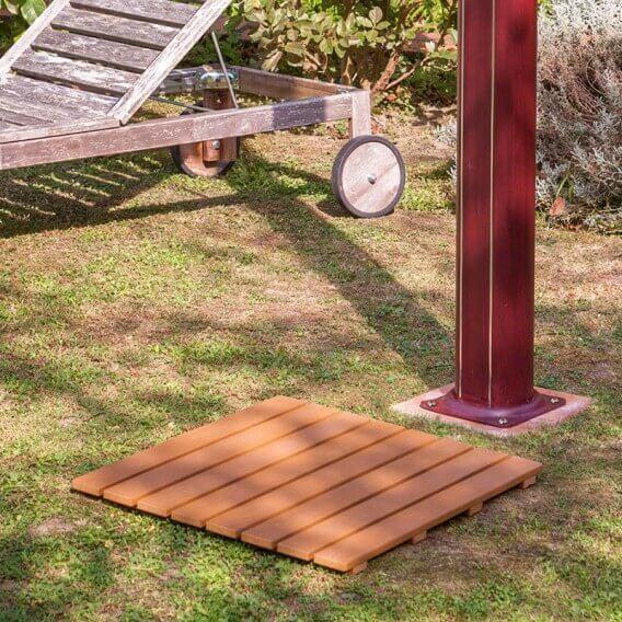 Tarima base de ducha exterior gre 60x60 cm ssb40 duchas - Tarima madera ducha ...