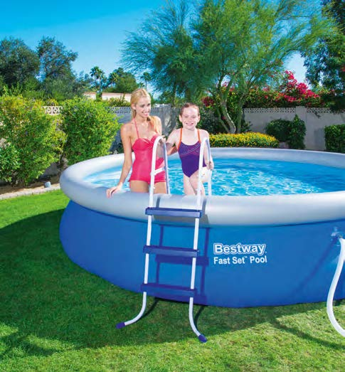 Escalera para piscina bestway 91 cm 58393 escaleras for Albercas bestway precios