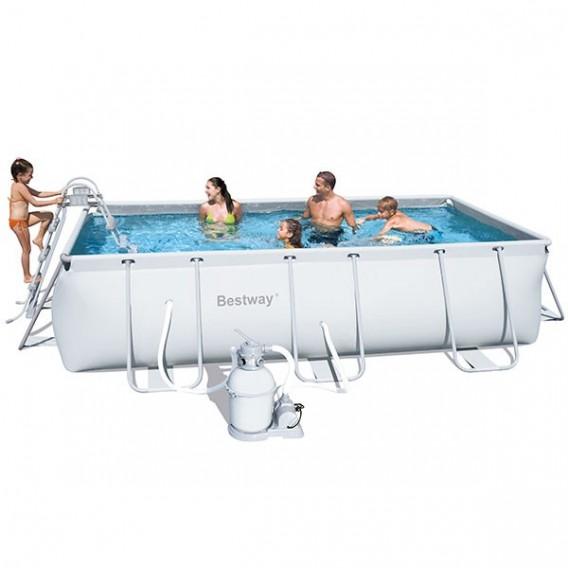 Piscina bestway rectangular frame 404x201x100 cm 56441 for Precio piscina bestway