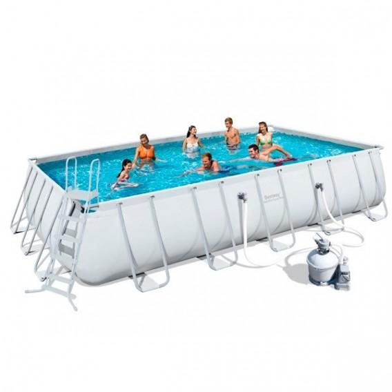 Piscina bestway rectangular frame 671x366x132 cm 56470 for Montaje piscina bestway