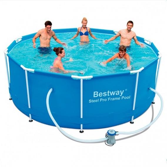Piscina bestway steel pro 366x100 cm 56418 piscinas de for Ofertas piscinas bestway