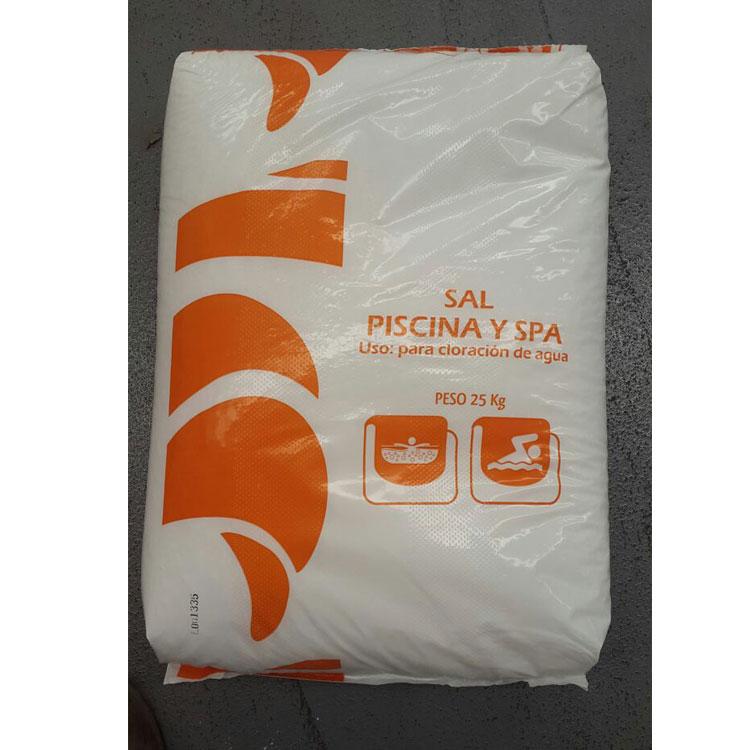 Saco de sal 25 kg productos qu micos para cloradores for Sal para piscinas